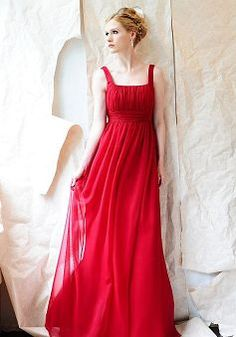 Great Chiffon Square With Ruching A line Bridesmaid Dress - 1300101602B - US$95.99 - BellasDress