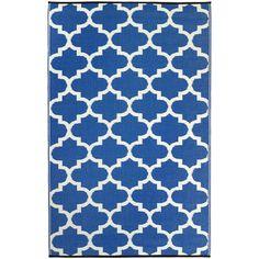 Fab Habitat Tangier Hand-Woven Blue Indoor / Outdoor Area Rug