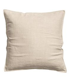 Linen beige. PREMIUM QUALITY. Cushion cover in washed linen with concealed zip. Tumble drying will help keep linen soft.