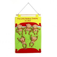Children count-along with this fun and colourful five little monkeys chart. Monkey Jump, Five Little Monkeys, Traditional Stories, Counting, Chart, Learning, Children, Fun, Color