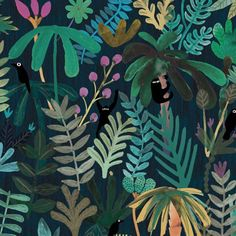 Marc Martin Shadow creatures #illustration #pencil #paint #art #artwork