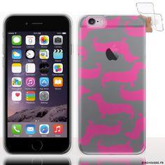 Housse Silicone iPhone 6s Transparente - Hot Dog Rose. #HotDog #iPhone6 #S #Silicone