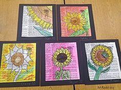 Art Rocks!: Grade 1 and Grade 5: Mixed Media Sunflowers