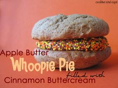 Cookies and Cups Apple Butter Whoopie Pies
