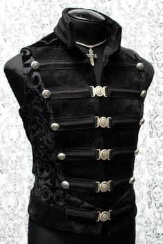 DOMINION VEST - BLACK VELVET - can imagine this in other strong colors as well...really enjoy the closures
