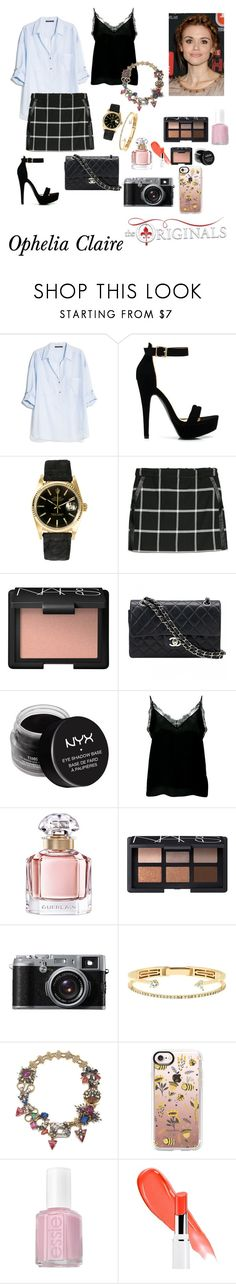 """Ophelia Claire. House of the Raising Son."" by thatnellegirl on Polyvore featuring MANGO, Rolex, NARS Cosmetics, Chanel, NYX, Anine Bing, Guerlain, John Lewis, Delfina Delettrez and Erickson Beamon"