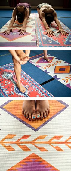Magic Carpet Yoga Mat. I've GOT to get one of these! Oh my gosh they're perfect!
