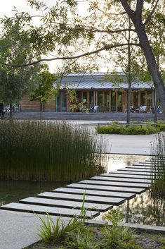 Simple and elegant stepper path over water. Fantastic contemporary path design…