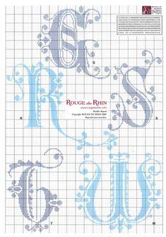 """Medieval cross stitch alphabet """"Rogue de Rhine"""" 4 - #2"""