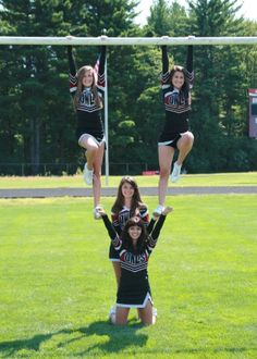 Something like this except just for partner stunting, I don't think she's strong enough to lift me up so we need that pole Cheerleading Poses, Senior Cheerleader, Cheer Poses, Cheerleading Pictures, Cheer Stunts, Softball Pictures, Cheer Dance, Senior Pictures, Cheer Coaches