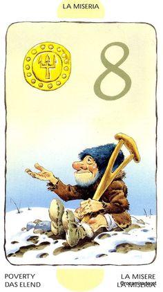 Tarot of the Gnomes Tarot, Wolf Illustration, Pentacle, Mythology, Magic, Fantasy, Album, Movie Posters, Painting
