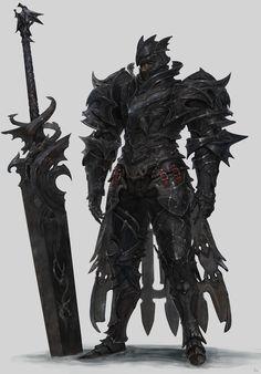 black Knight, Sanha Kim on ArtStation at https://www.artstation.com/artwork/XQG93