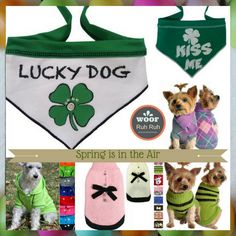 Spring is in the Air.. Getting Ready to for Good Times.. Spring Fashions for pets, bandanas, all season sweaters and hoodies. Wooferful selections for dogs of all sizes.