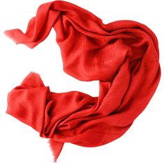 FENDI Kefiah Zucchino Red Scarf ($195) ❤ liked on Polyvore
