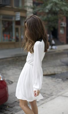 One of these days, I will wear a white dress like this (a little longer) and I will not feel self-conscious about it.