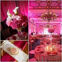 Tall Centerpieces, gold charger plates.