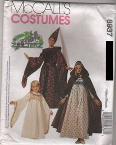 8937 Pattern McCall's Costume Ladies Medieval Red Riding Hood Angel Wizard 34-36