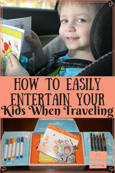 Traveling with your kids for a long time can take it's toll. But I have found an amazing way to easily entertain my kids when traveling!