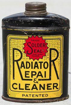 Radiator Repair bottle package design