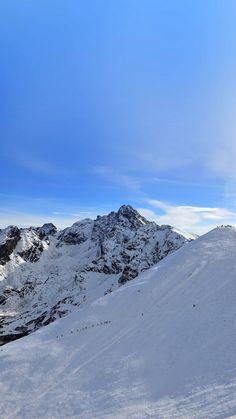 Winter Mountain Snow Blue Nature #iPhone #6 #plus #wallpaper