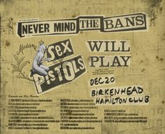 "sex pistols ""Never Mind The Bans"""