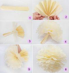 Krapon Kağıdı ile Çiçek Yapımı - Süsleme Fikri