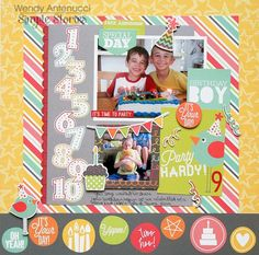 Layout: Party Hardy **Simple Stories DT** new collection Lets Party