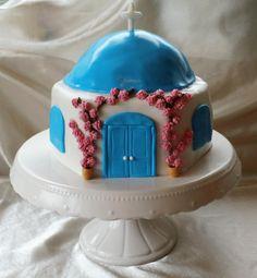 Santorini`s house - Cake by Pasiuneameadulce