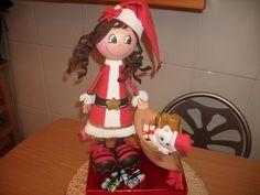 Cómo hacer una fofucha de Navidad - #Fofucha, #Navidad  http://lanavidad.es/como-hacer-una-fofucha-de-navidad/2545