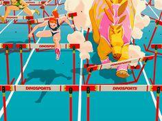 Dino hurdle race! Please enjoy everyone :D