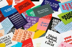 """The Designers Foundry — The Sampler""""To celebrate their re-launch TDF have created The Sampler. A5 cards collated with a custom-made plastic band between two hand screen printed plastic covers."""