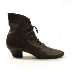Victorian Inspired Lace Up Ankle Granny Boots / by SpunkVintage, $48.00