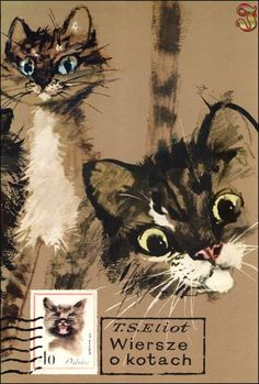 """Wiersze o kotach"" (Poems about cats) - by Thomas Stearns Eliot, illustrated by Janusz Grabiański (1970)"