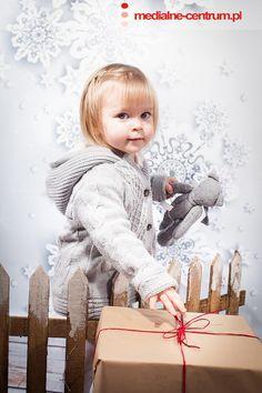 dziecięca fotografia studyjna Święta Bożego Narodzenia, prezenty
