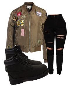 """Untitled #93"" by onlyyc on Polyvore featuring Sans Souci and Timberland"