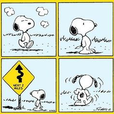 Snoopy ~ Obeying the sign.