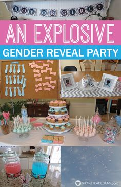 Fireworks Gender Reveal #party #baby #genderreveal | spotofteadesigns.com