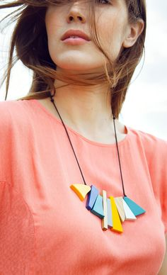 Bright resin statement necklaces to instantly update a plain t-shirt...