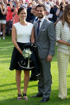Prince Carl Philip and Princess Sofia of Sweden make their first post-honeymoon appearance at a concert for Crown Princess Victoria of Sweden's birthday.
