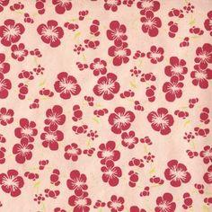 Papier népalais Anémones rose