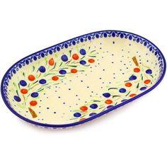 """Polmedia Polish Pottery 11"""" Oval Platter"""