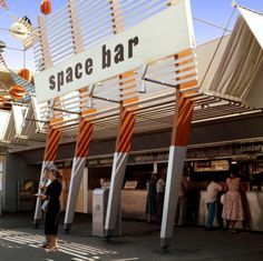 During Disneyland's first summer, in 1955, the Space Bar opened at the eastern edge of Tomorrowland.