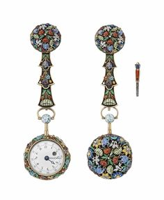 An early 19th century French gold and enamel quarter repeating pocket watch