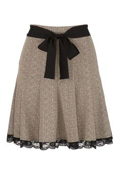 Lace Trim Tweed Skirt available at #Maurices