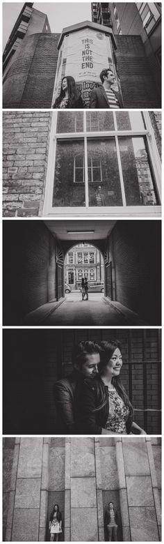 Urban engagement shoot in Leeds City