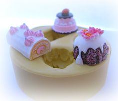 Miniature Cake Mold Deco Bundt Cake Moulds Sweets by Molds4You, $8.95