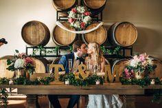 #folinoestateweddings #folinoestate #kissthebride #brideandgroom #winebarrels #floraldecor #romanticwedding