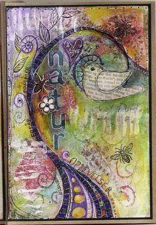 Art junk journal - Hjørdis Lolland from Denmark