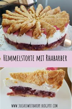Heaven cake with rhubarb- Himmelstorte mit Rhabarber Suitable for the rhubarb season, I can only recommend this recipe. Easy Homemade Desserts, Homemade Cake Recipes, Easy Baking Recipes, Chocolate Cake Recipe Videos, Chocolate Chip Recipes, Dessert Simple, Easy Vanilla Cake Recipe, Dessert Cake Recipes, Dessert Food