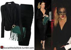 Khloe Kardashian Embroidered Dress